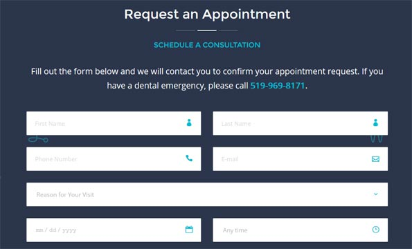 Request Appointment Form Dentist